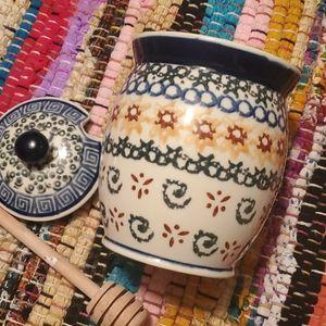Polish Pottery Honey Jar